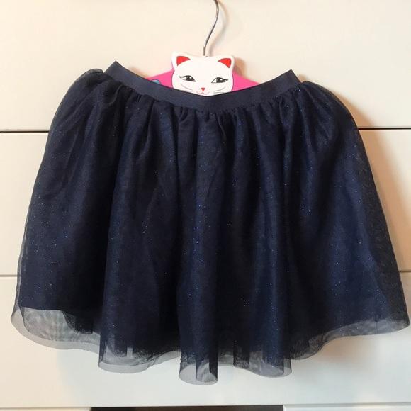 cb7b97004 H&M Bottoms | Hm Girls Navy Sparkly Tulle Skirt Lined Size 46 | Poshmark